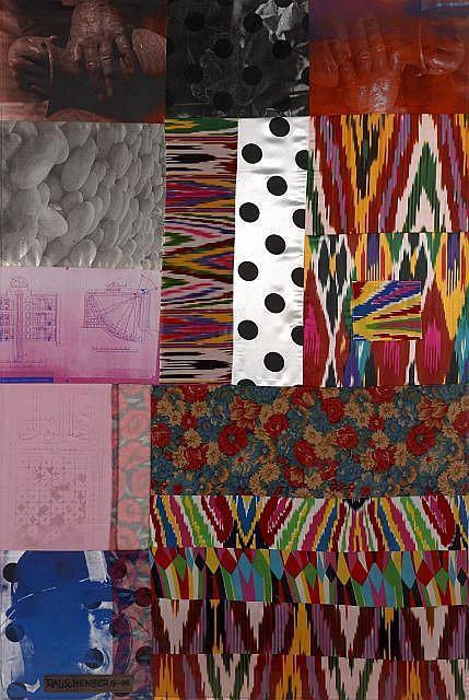 Robert Rauschenberg-Robert Rauschenberg - Samarkand Stitches # IV (From Samarkand Stitches)-1988