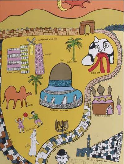 Niki de Saint Phalle-Jerusalem-1977