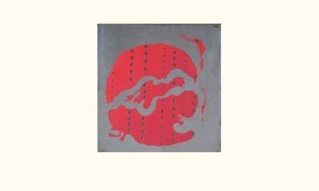 Lucio Fontana-Concetto spaziale, arancio-