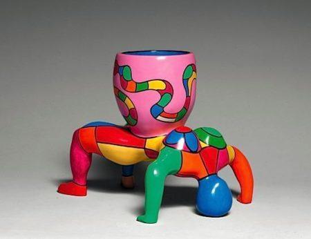 Niki de Saint Phalle-Snake Lady Vase-2000