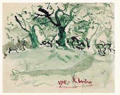 Yves Klein-Les arbres verts-