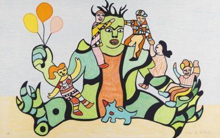 Niki de Saint Phalle-Le monstre (Le retour au village)-1990