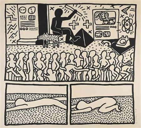 Keith Haring-Keith Haring - Blueprint Drawing #15-1990