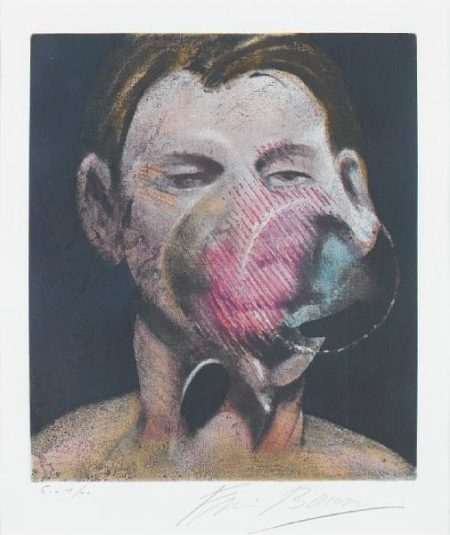 Francis Bacon-Central panel after '3 Studies for a Portrait of Peter Beard-1976