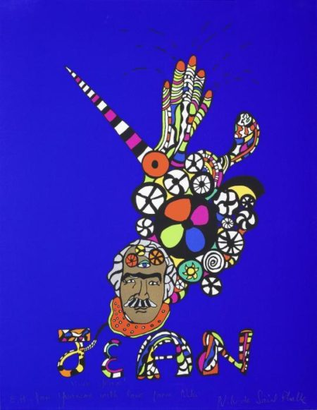 Niki de Saint Phalle-(i) Vive Jean; (ii) Untitled-