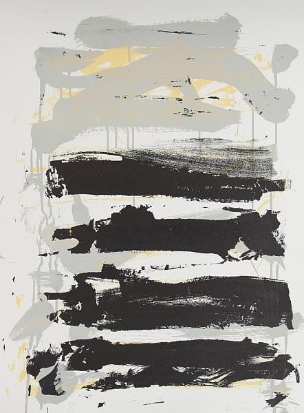 Joan Mitchell-Black and Grey Stripes-1992