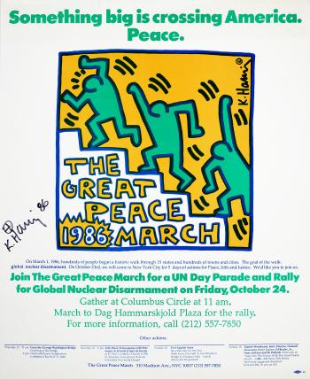 Keith Haring-Keith Haring - The Great Peace March-1986