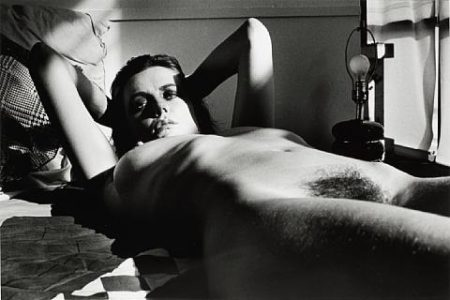 Helmut Newton-Fiona Lewis, Nude Lying, Los Angeles-1976