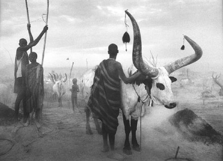 Sebastiao Salgado-Dinka Group at Pagarau Cattle Camp, Southern Sudan-2006