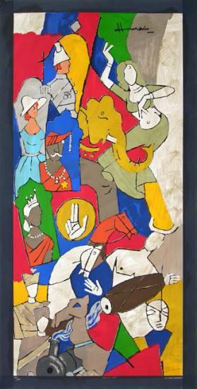 Maqbool Fida Husain-British Raj-