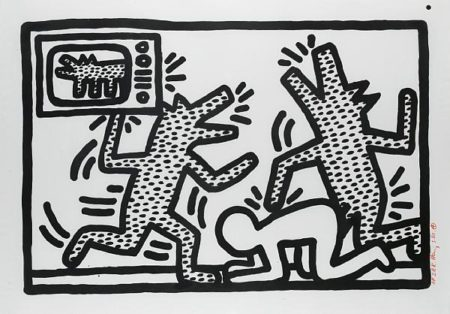 Keith Haring - Barking Dogs-1982