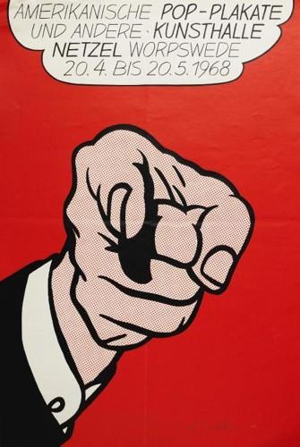 Roy Lichtenstein-Amerikansk Pop-Konst Poster-1964