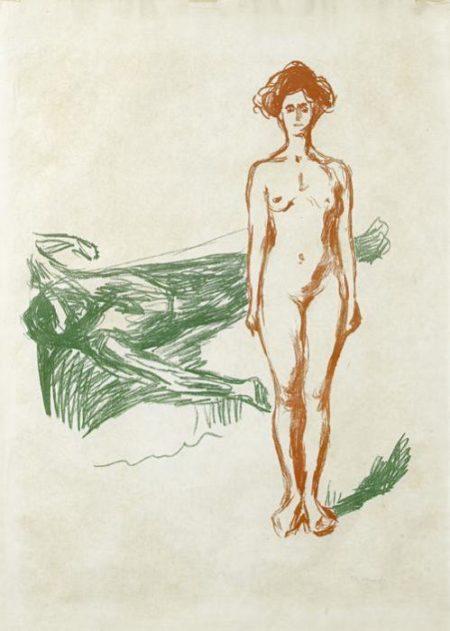 Edvard Munch-Marats Dod / The Death of Marat / Der Tod des Marat (Woll 287)-1907