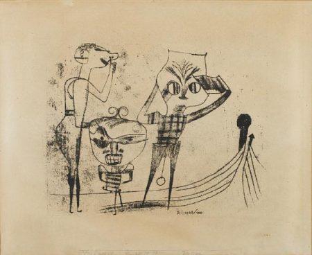 Paul Klee-Vulgare Komodie-1922