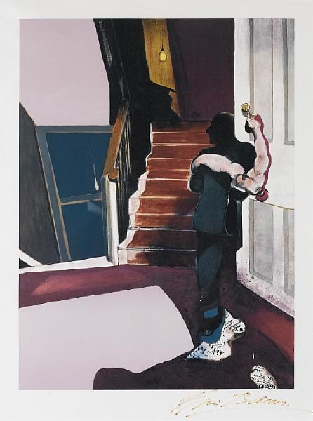 Francis Bacon-In Memory of George Dyer, Centre Panel of Triptych 1971-1976