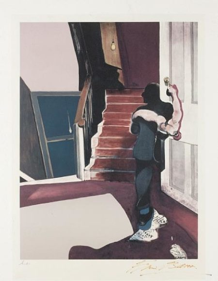 Francis Bacon-In memory of George Dyer (Triptych, central panel)-1976