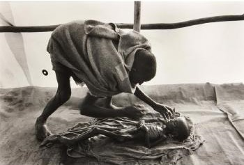 Sebastiao Salgado-A Body Being Prepared for Burial, Korem Camp, Ethiopia-1984
