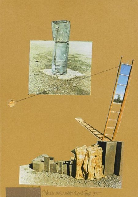 Robert Rauschenberg-Robert Rauschenberg - Composition (Monuments) (From the Man Ray Portfolio)-1975