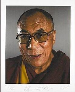 Chuck Close-Dalai Lama-2005