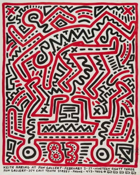 Keith Haring-Keith Haring - Poster for Fun Gallery-1983