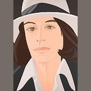 Alex Katz-Ada in a White Hat / White Hat-1990