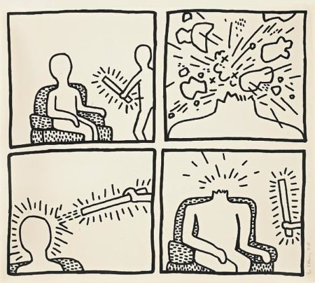 Keith Haring - From the Blueprint Drawings-1990