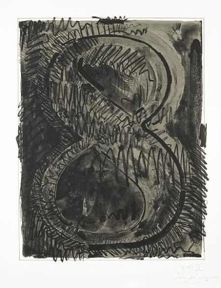 Jasper Johns-Figure 8, from Black Numeral Series (ULAE 52. G.95)-1968