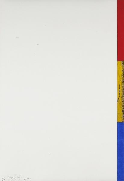 Jasper Johns-Ruler (Untitled) (ULAE 56; F.93)-1968