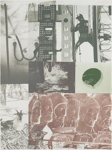 Robert Rauschenberg - American Pewter with Burroughs II-1981