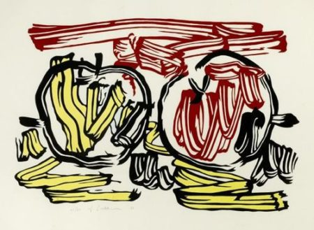 Roy Lichtenstein-Red Apple and Yellow Apple-1983