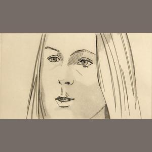 Alex Katz-Harmony, from June Ekman's Class Portfolio-1972