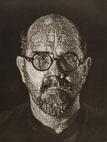 Chuck Close-S. P. I (Selbst-Portrat) / Self-Portrait I (Dots)-1997
