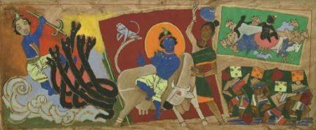 Maqbool Fida Husain-Krishna-