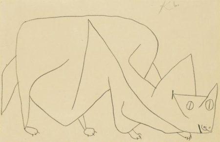 Paul Klee-Katze Lauert-1939