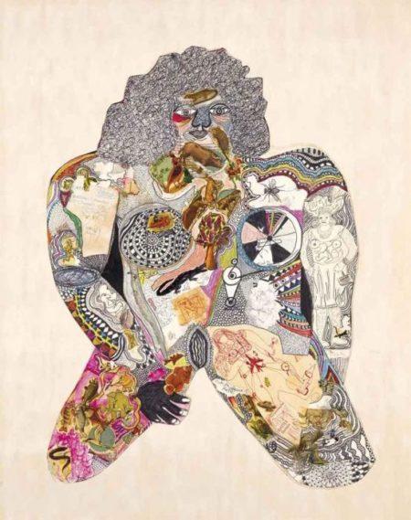 Niki de Saint Phalle-Sans titre (Nana a genoux)-1964