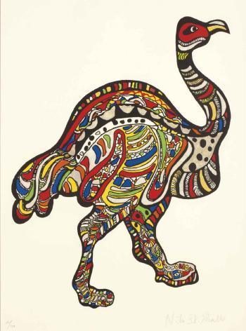 Niki de Saint Phalle-L'autruche-