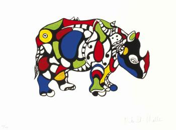 Niki de Saint Phalle-Rhinoceros-1998