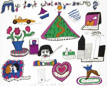 Niki de Saint Phalle-My Love What Are You Doing-1969