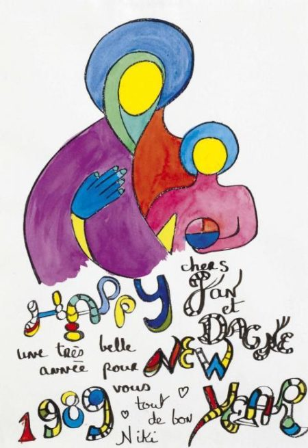 Niki de Saint Phalle-Happy New Year-1989