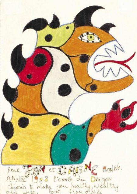 Niki de Saint Phalle-Bonne Annee 1988, l'annee du dragon-1988