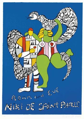 Niki de Saint Phalle-Adam et Eve-1986