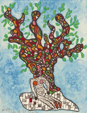 Niki de Saint Phalle-Femme sous l'arbre-