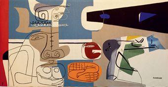 Le Corbusier-L'etrange oiseau et le taureau-1957