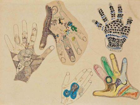 Niki de Saint Phalle-Sans titre (Bonjour mille merci pour le dine sensationel)-1964