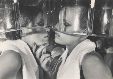 Helmut Newton-Patti Hansen And Winnie Hollman For Xavier Coiffures, New York (1976)-1976