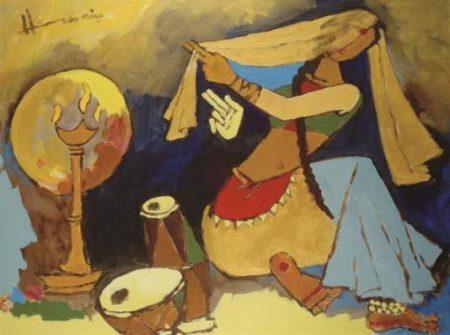 Maqbool Fida Husain-Chandramukhi-