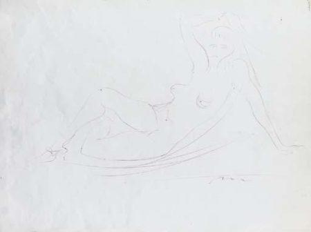 Lucio Fontana-Nudo-1956