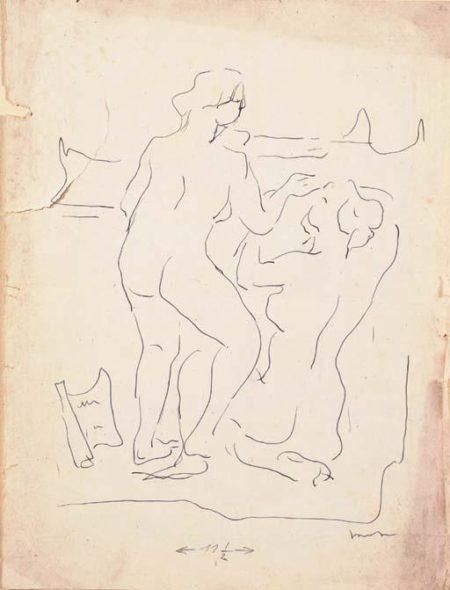 Lucio Fontana-Due figure-