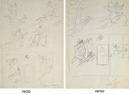 Lucio Fontana-Bozzetti per Porta del Duomo di Milano Studio-1955
