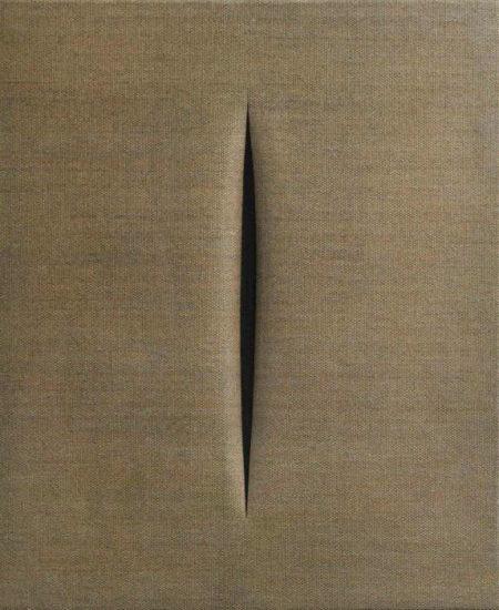 Lucio Fontana-Concetto spaziale. Attesa-1964